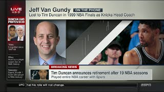 Jeff Van Gundy on Tim Duncan retirement | July 11, 2016