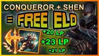 RANK 1 SHEN EUW TEACHES BRUISER SHEN - How To Play With Conqueror   League of Legends