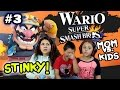 MOM vs. KIDS - Super Smash Bros 4 Wii U - SO STINKY! w / Wario Foe Battle (Partie 3) VISAGE CAM