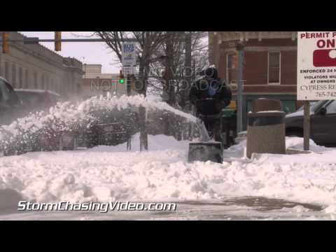 3/2/2014 Lafayette, IN Spring Snow B-Roll Footage
