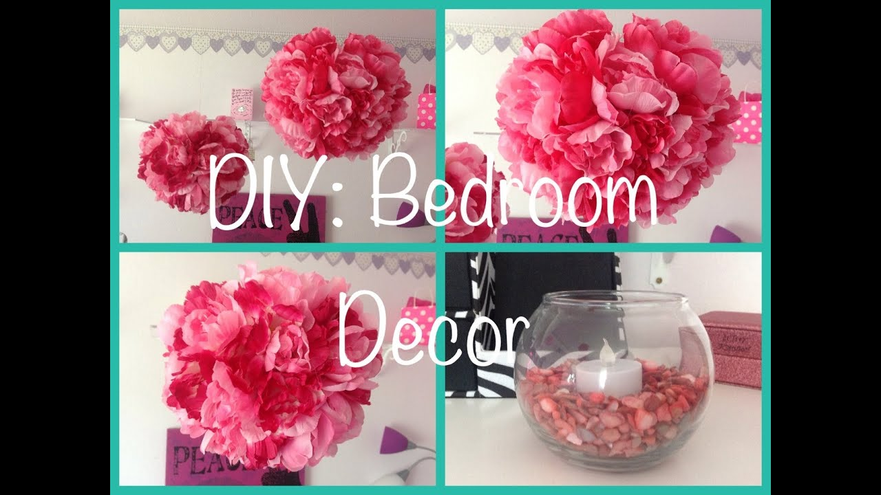 Diy bedroom decor youtube for Easy diy room decor pinterest