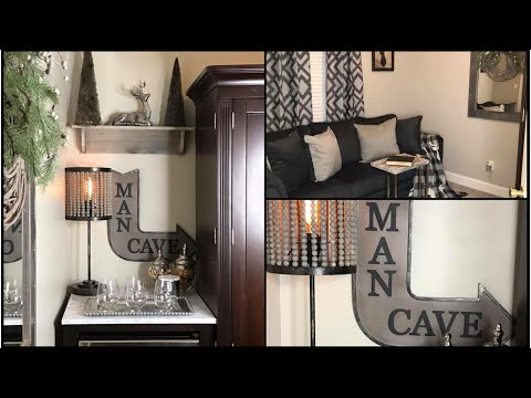 Man Cave Makeover + Room Tour & Reveal| Great Christmas Gift Giving Idea for Him