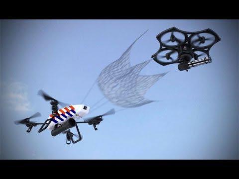 """【maxonor創意公元】非法無人機太危險,飛行警察出現了,瞬間彈出大網将其""""活捉"""""""