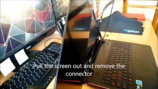 Laptop screen replacement / How to replace laptop screen ASUS GL551JW-WH71