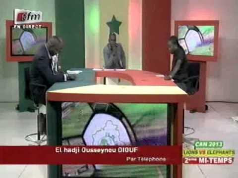 Can 2013 - Sénégal vs Côte d'Ivoire - 15 Octobre 2012 - Réaction de  El Hadji Diouf