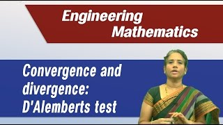 Best Engineering Mathematics Tips & Tricks : Convergence and divergence of series: Dalemberts test