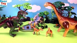 Playmobil Dinos Tyrannosaurus with Explorer and Brachiosaurus Playset - Fun Toys For Kids
