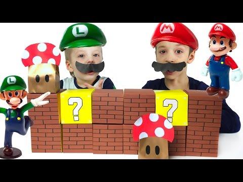 ЧЕЛЛЕНДЖ Супер Марио игрушки. Super Mario toys Unboxing