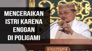 MENCERAIKAN ISTRI KARENA ENGGAN DI POLIGAMI : Kyai Prof Dr H Ahmad Zahro MA Al-Chafidz