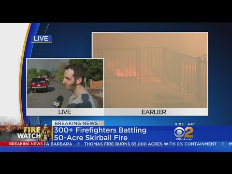 Residents Trying To Keep Their Homes Safe From Skirball Fire