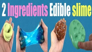 2 Ingredients Edible Slime!! Easy No Glue,Borax Or Baking Soda Slime for Beginners