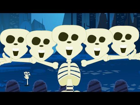 Halloween Songs | Five Little Skeletons | Nursery Rhyme
