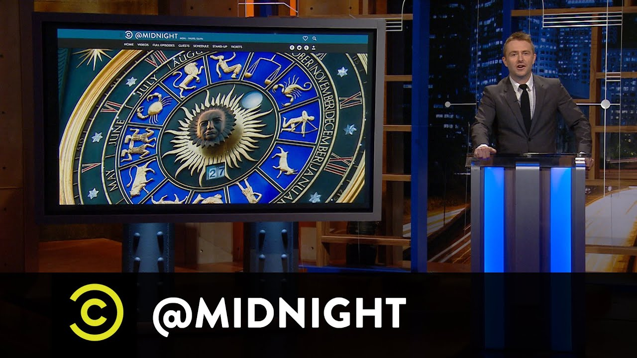 Randy Liedtke, Natalie Morales & Paul F. Tompkins - Horror Scopes - @midnight with Chris Hardwick