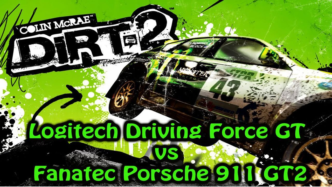 colin mcrae dirt 2 logitech driving force gt vs fanatec porsche 911 gt2 youtube. Black Bedroom Furniture Sets. Home Design Ideas