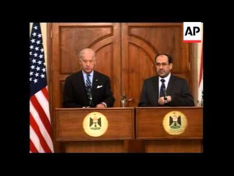 Biden meets Iraqi PM al-Maliki