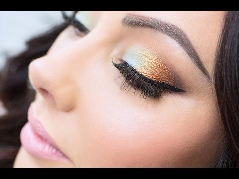 Mint Green & Copper Foiled Makeup  {Makeup Geek}