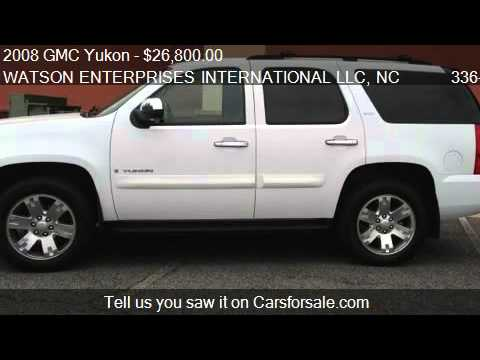 2008 GMC Yukon SLT-2 4WD - for sale in MOUNT AIRY, NC 27030