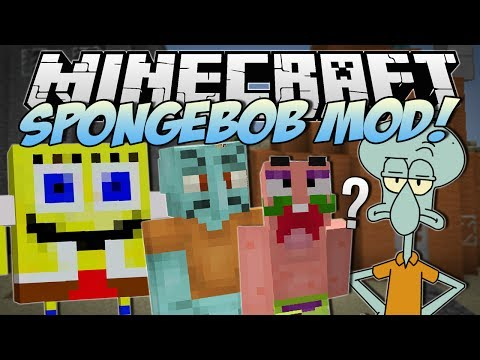 Minecraft   SPONGEBOB MOD! (I Saved Bikini Bottom!)   Mod Showcase