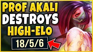 PROFESSOR AKALI SHOWS WHY AKALI IS PERMA-BANNED! SEASON 8 AKALI MID GAMEPLAY! - League of Legends