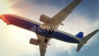 Airplane Landing Guangzhou China | Motion Graphics - Videohive template