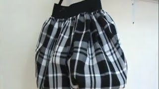 Como Hacer Una Falda Globo En 20 Minutos How To Make A Bubble Skirt In 20 Minutes - Jazmin Gastelum