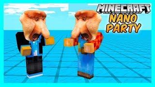 Minecraft Nano Party #09 - Pojedynek Somsiadów! | Vertez