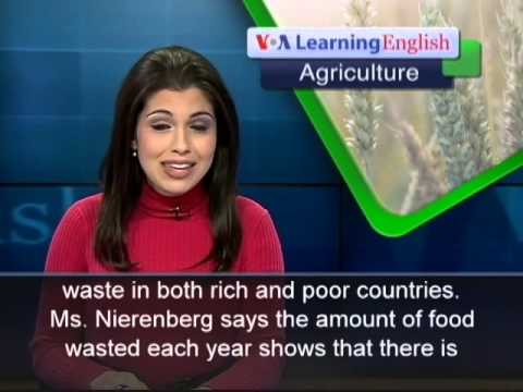 Anh ngữ đặc biệt: One Billion Tons of Food Wasted Each Year (VOA-Ag Rep)