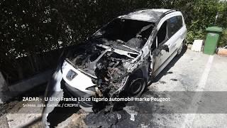 U Ulici Franka Lisice u Zadru izgorio automobil marke Peugeot