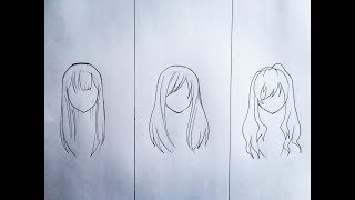 How to draw anime hair (part 2)