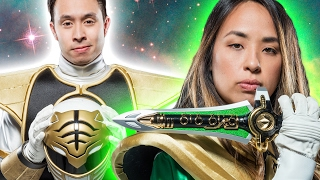 Super Fans Try On Power Ranger Suits