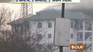 LIVE Footage of Pampore Encounter in Srinagar, Death Toll Rises to 7