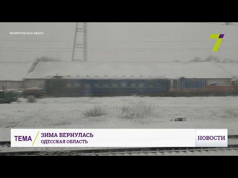 Одесскую область завалило снегом