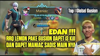 Download Lagu Top 1 Global Gusion / Gossen RRQ`Lemon ✿ Lihai Bener Pake Gossen Dapat Maniac Mobile Legends Gratis STAFABAND