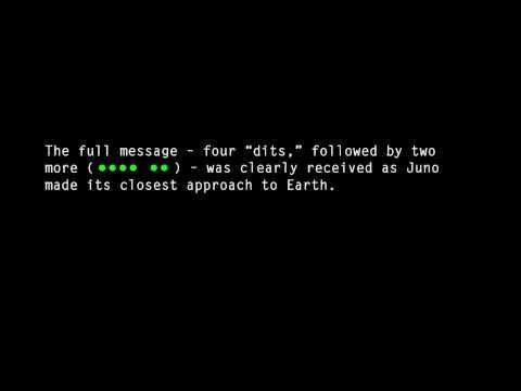 sonidos escalofriantes captados en el espacio 'HI' desde la sonda espacial Juno en Codigo Morse HD