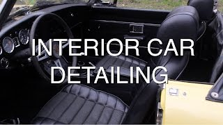 Detailing the Interior of Your Car - 1973 MG MGB