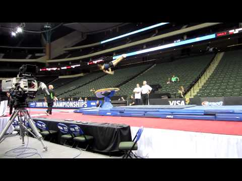 Alexandra Raisman - 2011 Visa Championships Podium Training - Vault