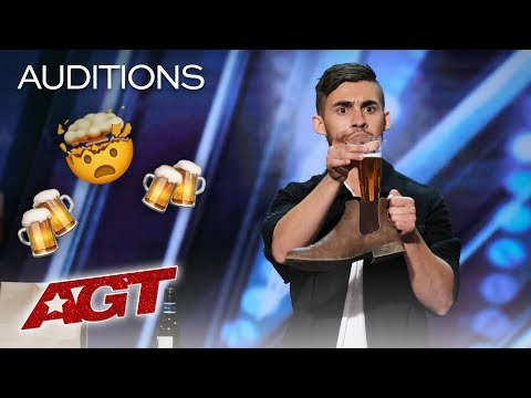 Dom Chambers Chugs A Beer With Intoxicating Magic! - America's Got Talent 2019