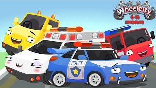 Wheelcity - Ambulance LILA Police Car Flash Catching Cars New Kids Video - Episodes #6-10