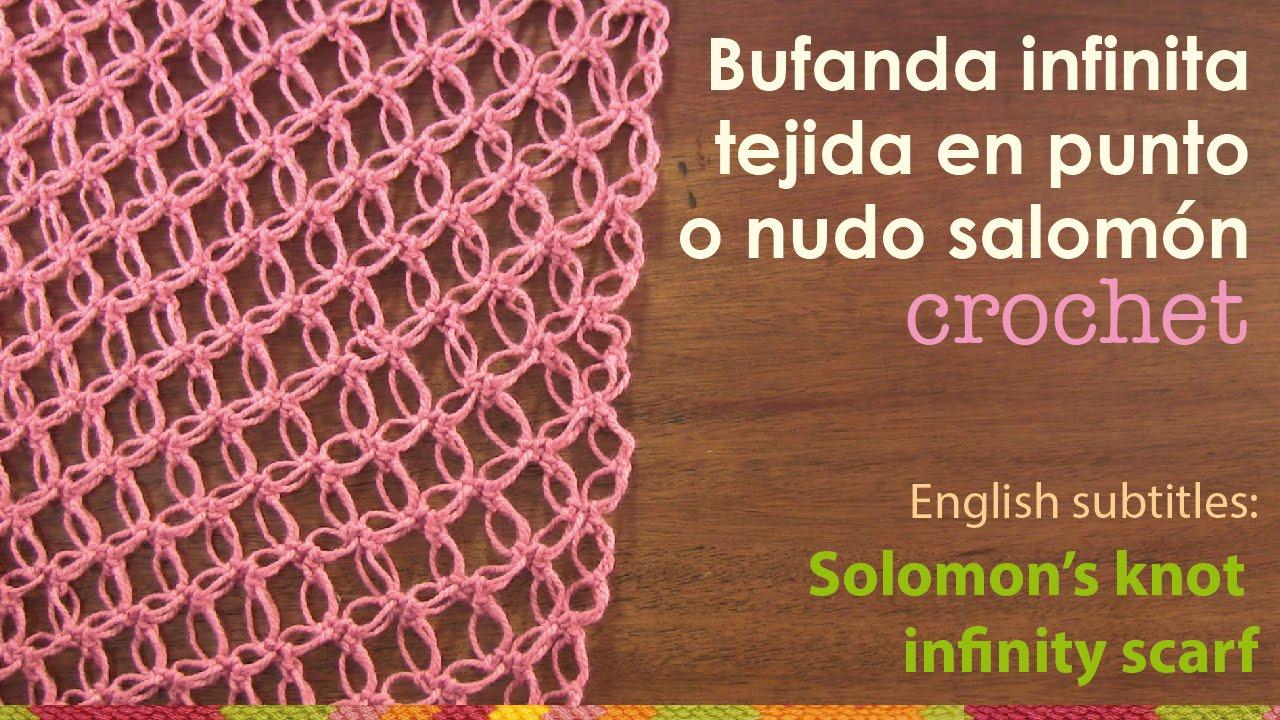 Bufanda Infinita Tejida En El Punto Nudo Salom 243 N English