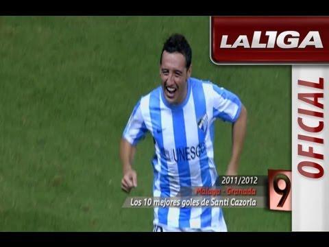 Los diez mejores goles de Santiago Cazorla con el Málaga en la temporada 2011/2012
