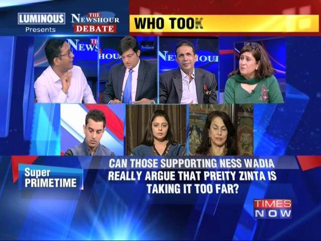 The Newshour Debate: Preity Zinta and Ness Wadia Mess - Part 1 (16th June 2014)