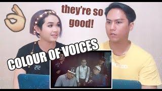 Colour Of Voices - Pencuri Hati Acapella | SINGERS REACT