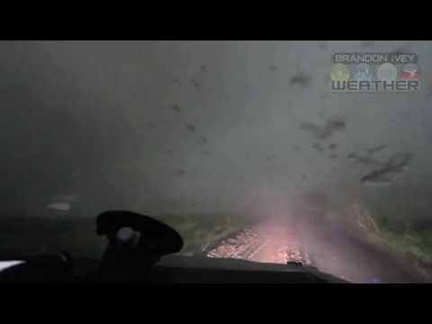 Footage Inside Of A Violent Tornado With TIV2