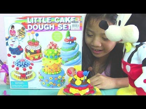 Little Cake Dough Set - Make Lollipop Flower and Cake Play Dough