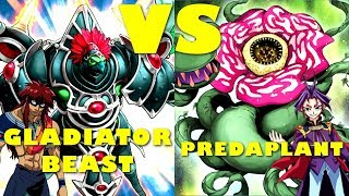 Real Life Yugioh - GLADIATOR BEAST vs PREDAPLANT | August 2017 Scrub League