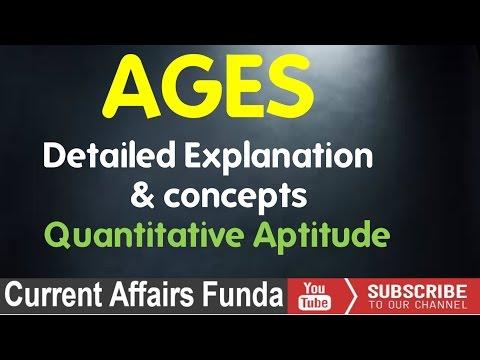 Ages Problems :  Detailed explanation (IBPS,SSC CGL ,CSAT,SBI PO,Railway,NDA,PCS,MAT) thumbnail