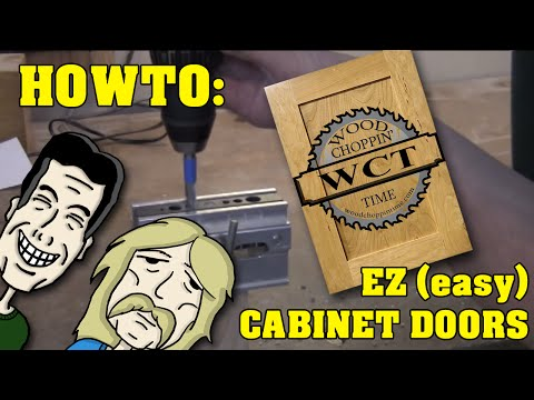 How to make (easy) EZ  cabinets doors