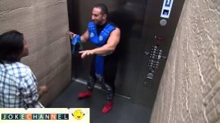прикол в лифте MORTAL KOMBAT