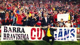 La Banda Tricolor, AMP e hinchada del Deportivo Pasto copando el Campín de Bogotá