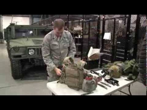 113th ASOS Prepares Equipment (PRC-117G, Portable Radio Configuration)